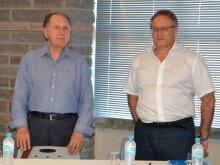 Maximino Tormen e Claudionor Mores